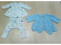 3 Piece Bundle Baby Girl Clothes Set 1-2 Months