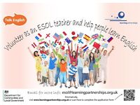 Volunteer ESOL Tutors required
