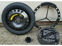 Vauxhall spare wheel, space saver and jack kit