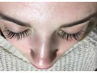 Individual Mink Eyelash Extensions.