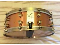 "VK solid copper shell 14"" x 5"" snare drum"