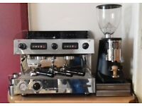 Sanremo capri deluxe coffee machine, grinder and waste tray