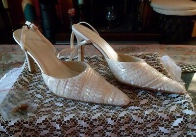BARRATTS Ivory Beaded Wedding Bridal occasion party xmas Shoes BNIB Size 6
