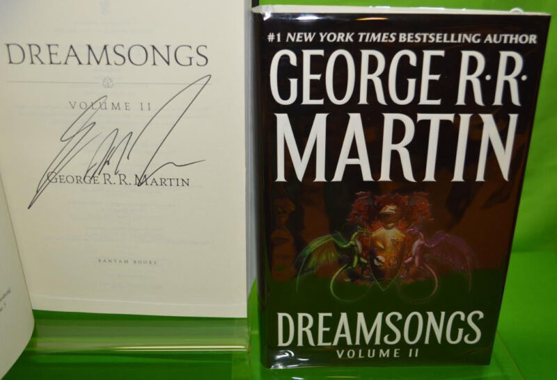 Signed DREAMSONGS Vol 2 by George RR Martin HC a game of thrones Science Fiction