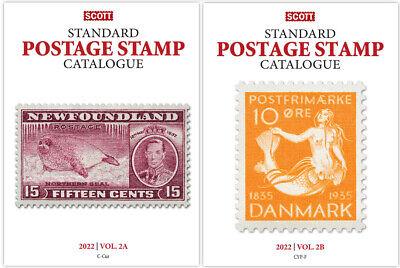 New 2022 Scott Standard Postage Stamp Catalogue Worldwide (C-F) Volume 2 A&B