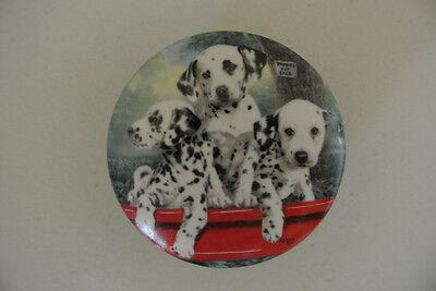 Three Alarm Fire Fine Porcelain Dalmatian Dog Music Box Princeton Gallery 1993