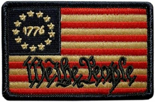 """We The People Betsy Ross 1776 Patch [""""Velcro Brand"""" Fastener -3.0 X 2.0 - WP9]"""