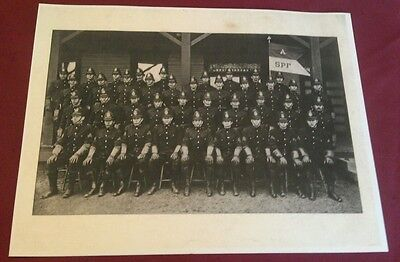 """1906 Pennsylvania State Police Greensburg PA. Troop """"A"""" In Full Uniform Poster"""