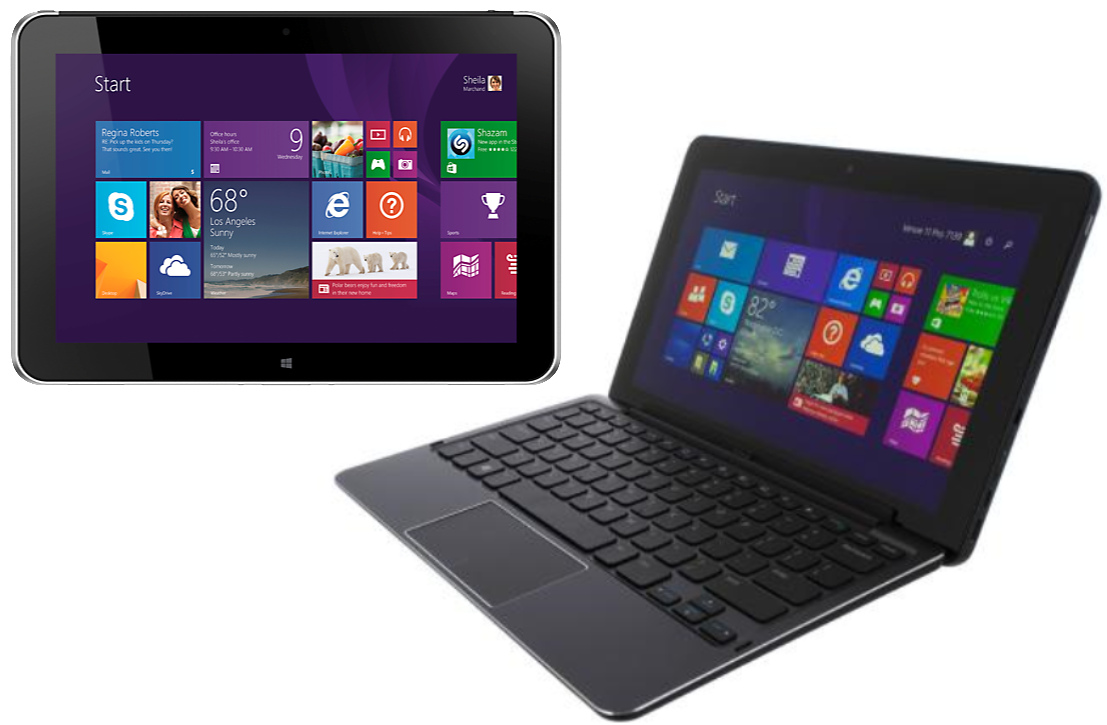 "Laptop Windows - HP ElitePad 1000 G2  10.1"" Tablet Intel Atom Z3795 4GB RAM 128GB SSD WINDOWS 10"