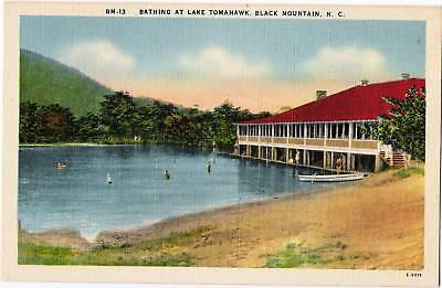 Postcard Lake Tomahawk North Carolina Black Mountain Buncombe County ca 40s-50s