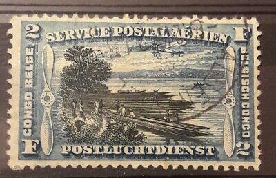 2 Fr Franc Frank poste aérienne CONGO BELGE / Postluchtdienst  Belgisch PA3