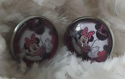Ohrstecker Minnie Mouse Ohrringe 16mm Maus, gebraucht gebraucht kaufen  Freiberg