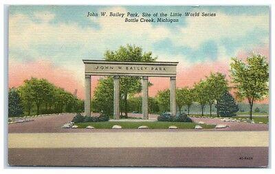 Mid-1900s John W. Bailey, Little League World Series, Battle Creek, MI Postcard