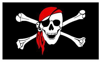 Pirate Flag Sticker Decal F686 (Pirate Stickers)