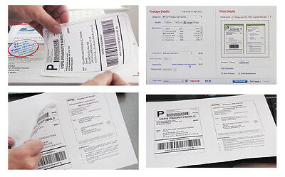 Shipping Mailing Labels 250 Sheets 1200pl Use With Stamps Program 6.5 X 4.5