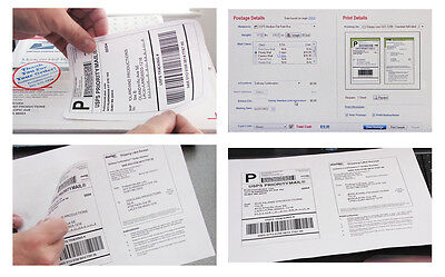 Shipping Mailing Labels 200 Sheets 1200pl Use With Stamps Program 6.5 X 4.5