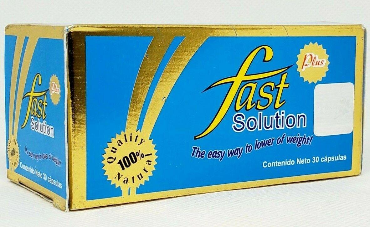 Fast Solution Plus L-Carnitine Papaya Nopal Garcinia Cambogia Weight Loss Caps