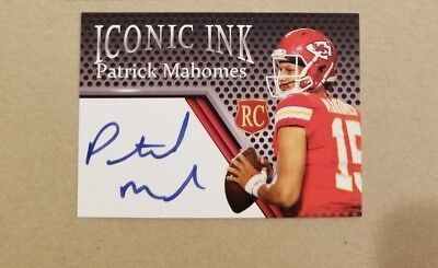 Patrick Mahomes Iconic Ink Rookie Auto Card ~ FREE SHIP