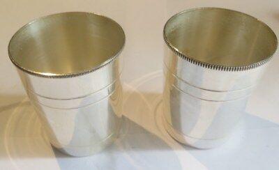 2 supports de verre en argenterie – percés – poinçon 2 JGD