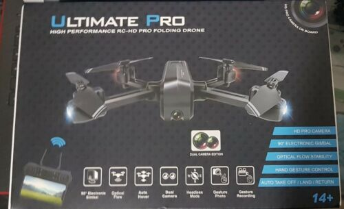 ULTIMATE PRO RC-HD Pro Folding DRONE (Quadcopter) Dual cameras.