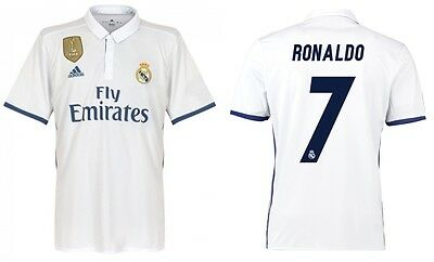 Trikot Adidas Real Madrid 2016-2017 Home WC - Ronaldo CR7 Badge Klubweltmeister (Real Madrid Wc)