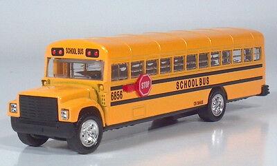 """6"""" International Blue Bird Body School Bus 1:60:64 S Gauge Die Cast Scale Model"""
