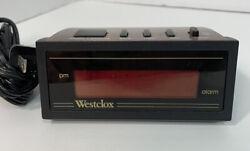 Vintage Small Travel Westclox Alarm Clock Digital Red LCD Display Battery Backup