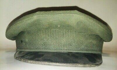 1950s Mens Hats | 50s Vintage Men's Hats Vintage Men's Military Service Hat Size 7 1950s 100% Wool Cap Original Label G2A $45.95 AT vintagedancer.com