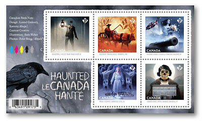 Canada 2860 Haunted Halloween Souvenir Sheet #2 MNH 2015 - Canada Halloween
