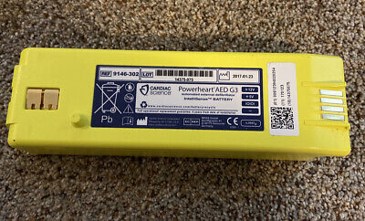 Cardiac Science Powerheart G3 Aed Battery Manufactured 2017 Used Good Working
