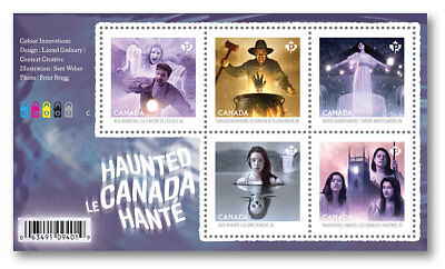 Canada 2935 Haunted Halloween Souvenir Sheet #3 MNH 2016 - Canada Halloween