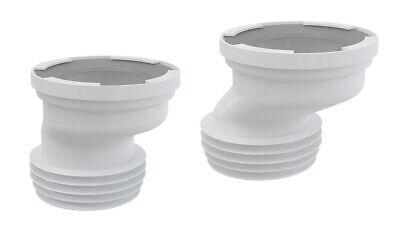 110 Anschluss (exzentrischer WC Anschlußstutzen Anschluss Abfluss Rohr Versatz Stutzen ø80-110)