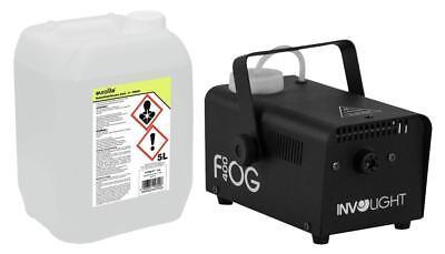 Involight FOG 400 Nebelmaschine Set Smoke Fluid Effekt Mini Fog Machine 1,5m DJ ()
