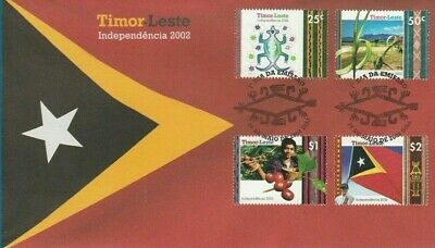 MINT 2002 TIMOR LESTE INDEPENDENCE STAMP FDC COVER