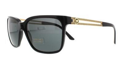 New Versace Authentic Sunglasses 4307 GB1/87 58-17-145 Black/Gray MSRP $265