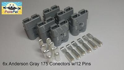 Andersonsmh Sb175 Connector Kit Gray 6 Connectors 12 Pins 02 Or 4 Awg
