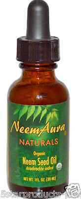 NEW NEEMAURA NATURALS ORGANIC NEEM SEED OIL DAILY SKIN CARE SMOOTHE CLEAR - Neemaura Neem Seed Oil