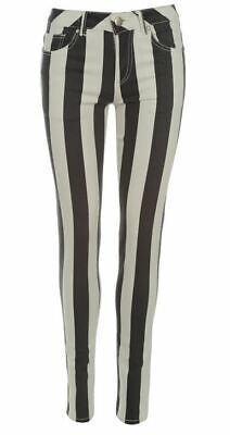 Jilted Generation Stripe Ladies Jogging Jeans Black White Size 26 UK XXS  B11214