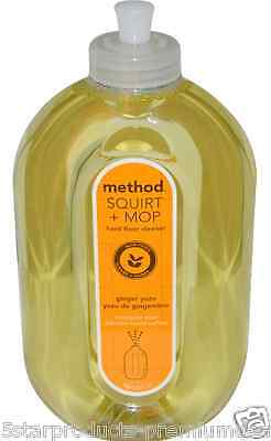 NEW METHOD SQUIRT+MOP HARD FLOOR CLEANER GINGER YUZU HOUSEHOLD NON-TOXIC CARE
