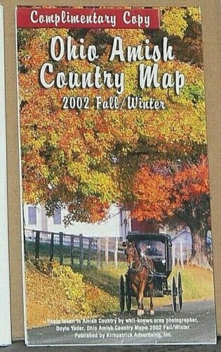 2002 Fall/Winter Ohio Amish Country Map with Local Advertising