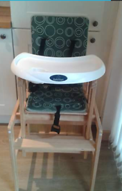 wooden highchair/table
