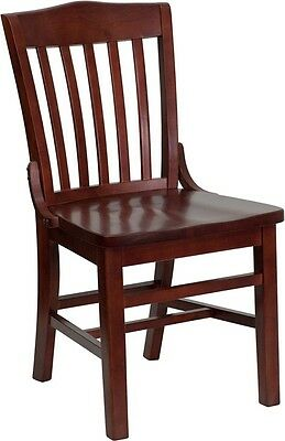 (Mahogany Finished School House Back Wooden Restaurant Chair)