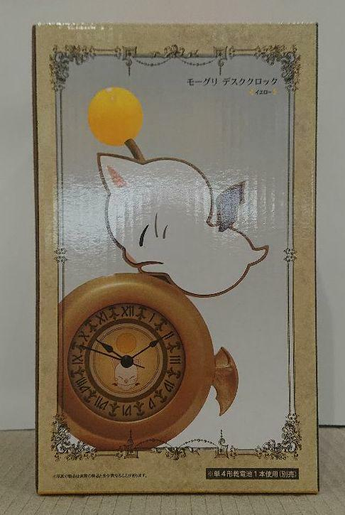 Taito Final Fantasy XIV Moogle desk clock Figure yellow kawaii cute FFXIV FF14