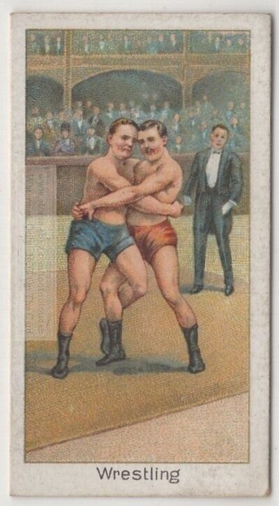 Catch-As-Catch-Can Wrestling Champion G.W. Wilson 1920s Trade Ad Card