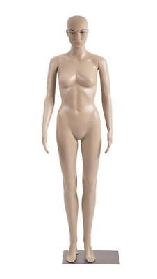 Mannequin Female Realistic Display Plastic Full Body Arms Legs Dress Metal Base