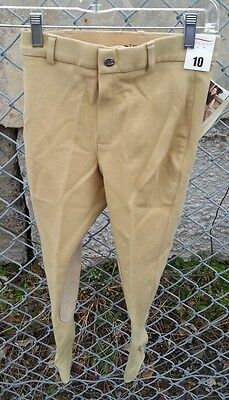 NWT SIGMA COUNTRY $54 Girls Cotton Stretch Riding Show Breeches Light -