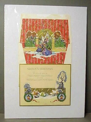 1929 Christmas Card with Decorated Envelope #1
