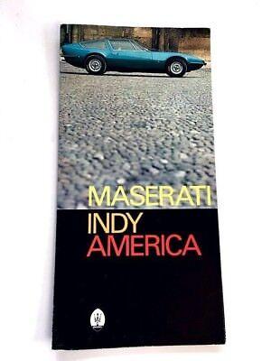 1972 Maserati Indy America Original Car Sales Brochure Catalog Folder