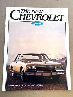 1980 Chevrolet Impala and Caprice Classic 16-page Car Sales Brochure Catalog ()
