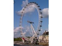 London eye & Madame Tussaud's tickets for 1 adult use before 1/11/2016